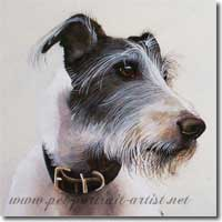 Watercolour Dog Portrait  by Joanna Culley, Pet Portrait Artist. Click on image to see enlarged version.